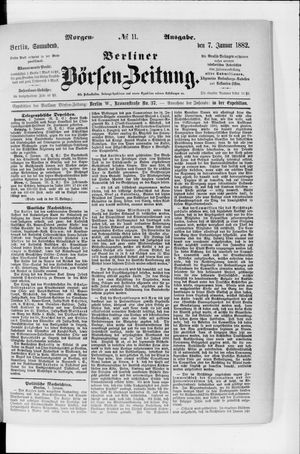 Berliner Börsen-Zeitung on Jan 7, 1882