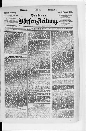 Berliner Börsen-Zeitung vom 08.01.1882