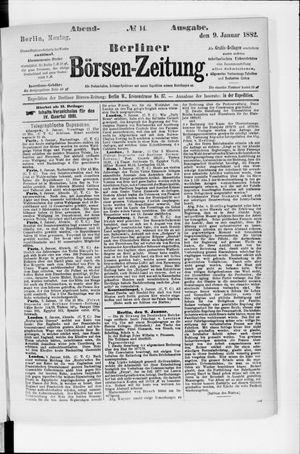 Berliner Börsen-Zeitung vom 09.01.1882