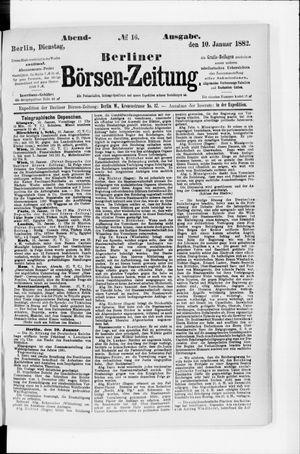 Berliner Börsen-Zeitung vom 10.01.1882