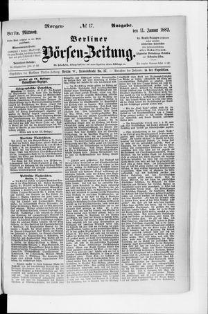 Berliner Börsen-Zeitung vom 11.01.1882