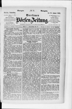 Berliner Börsen-Zeitung vom 12.01.1882