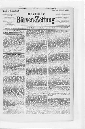 Berliner Börsen-Zeitung vom 14.01.1882