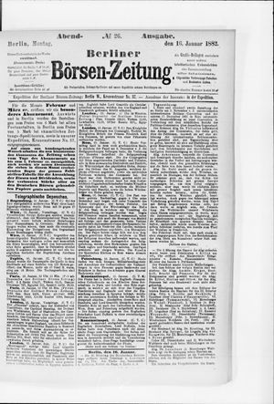 Berliner Börsen-Zeitung vom 16.01.1882