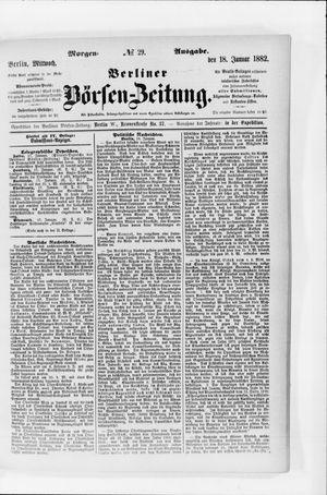 Berliner Börsen-Zeitung vom 18.01.1882