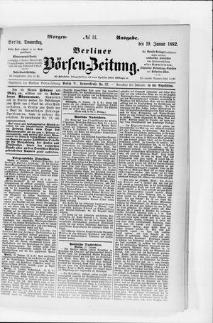 Berliner Börsen-Zeitung vom 19.01.1882