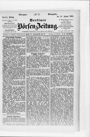 Berliner Börsen-Zeitung vom 20.01.1882