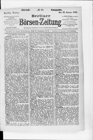 Berliner Börsen-Zeitung vom 23.01.1882