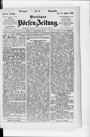 Berliner Börsen-Zeitung vom 24.01.1882