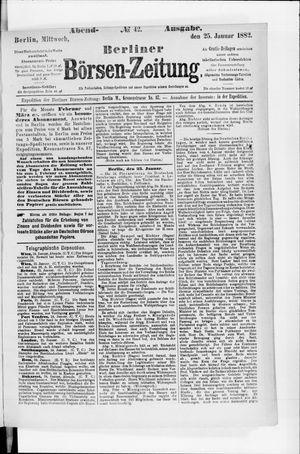 Berliner Börsen-Zeitung on Jan 25, 1882