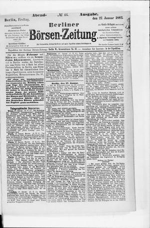 Berliner Börsen-Zeitung vom 27.01.1882