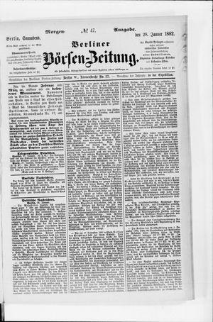 Berliner Börsen-Zeitung vom 28.01.1882