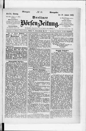 Berliner Börsen-Zeitung on Jan 29, 1882