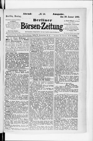 Berliner Börsen-Zeitung vom 30.01.1882