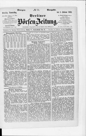 Berliner Börsen-Zeitung vom 02.02.1882