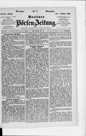 Berliner Börsen-Zeitung vom 03.02.1882