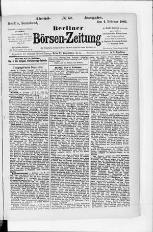 Berliner Börsen-Zeitung vom 04.02.1882