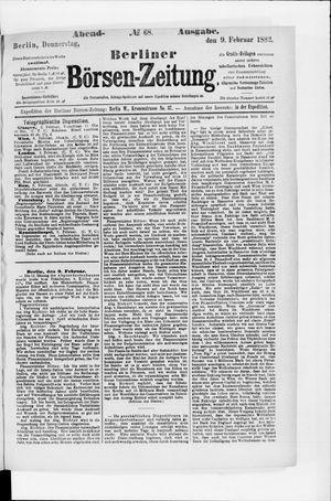 Berliner Börsen-Zeitung vom 09.02.1882