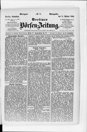 Berliner Börsen-Zeitung vom 11.02.1882