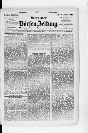 Berliner Börsen-Zeitung vom 16.02.1882