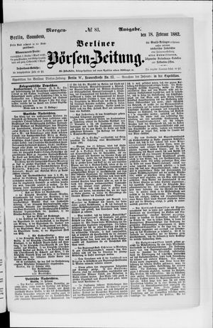 Berliner Börsen-Zeitung vom 18.02.1882