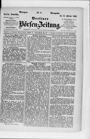 Berliner Börsen-Zeitung vom 23.02.1882