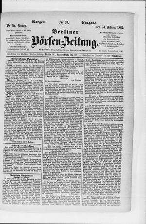Berliner Börsen-Zeitung vom 24.02.1882