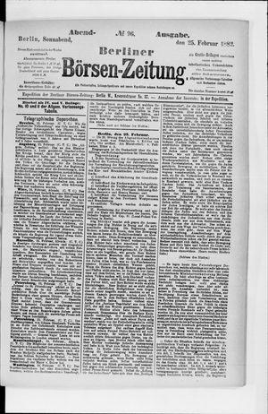 Berliner Börsen-Zeitung vom 25.02.1882