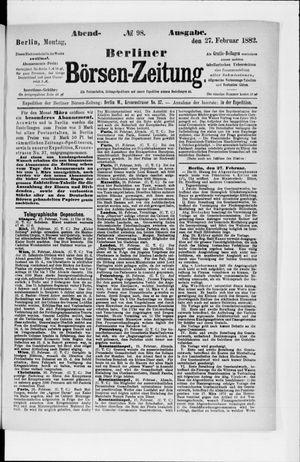 Berliner Börsen-Zeitung vom 27.02.1882