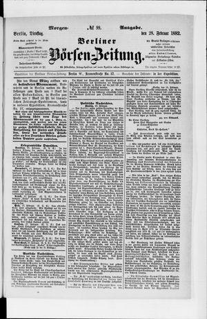 Berliner Börsen-Zeitung vom 28.02.1882