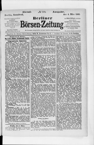Berliner Börsen-Zeitung vom 04.03.1882