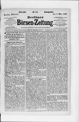 Berliner Börsen-Zeitung vom 08.03.1882