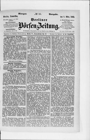 Berliner Börsen-Zeitung vom 09.03.1882