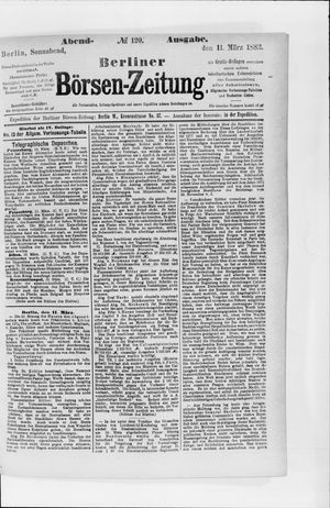 Berliner Börsen-Zeitung vom 11.03.1882