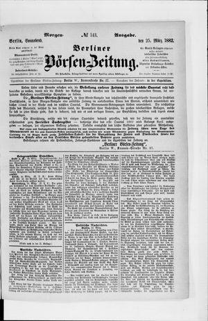 Berliner Börsen-Zeitung vom 25.03.1882