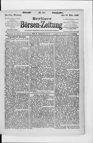 Berliner Börsen-Zeitung vom 28.03.1882