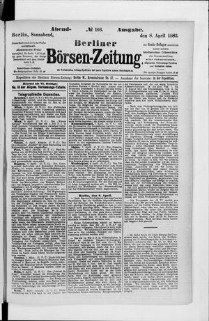 Berliner Börsen-Zeitung vom 08.04.1882