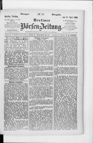 Berliner Börsen-Zeitung vom 18.04.1882