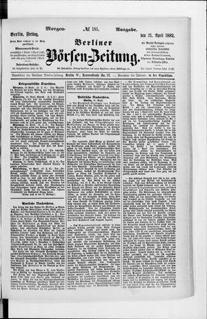 Berliner Börsen-Zeitung vom 21.04.1882