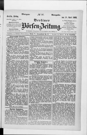 Berliner Börsen-Zeitung vom 28.04.1882