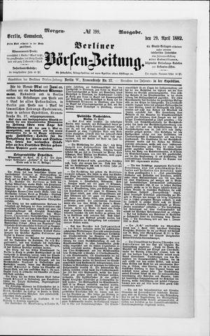Berliner Börsen-Zeitung vom 29.04.1882