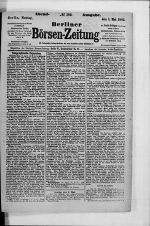 Berliner Börsen-Zeitung vom 01.05.1882