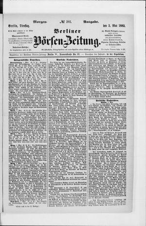 Berliner Börsen-Zeitung vom 02.05.1882
