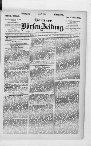 Berliner Börsen-Zeitung vom 03.05.1882