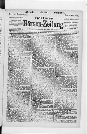 Berliner Börsen-Zeitung vom 04.05.1882