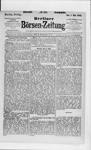 Berliner Börsen-Zeitung vom 05.05.1882