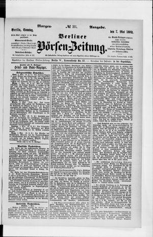Berliner Börsen-Zeitung vom 07.05.1882