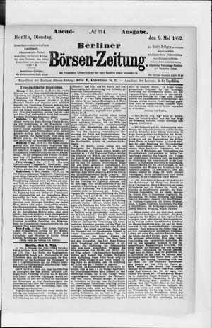 Berliner Börsen-Zeitung vom 09.05.1882