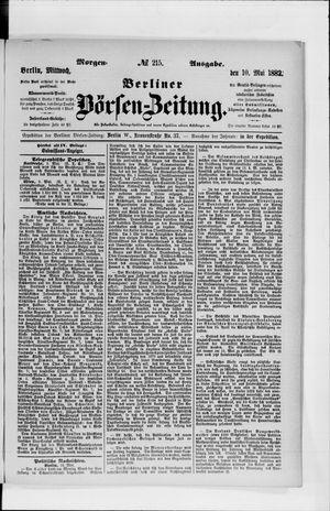 Berliner Börsen-Zeitung vom 10.05.1882