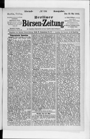 Berliner Börsen-Zeitung vom 12.05.1882